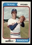 1974 Topps #318  Jim Merritt  Front Thumbnail