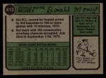 1974 Topps #413  Don Money  Back Thumbnail