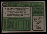 1974 Topps #418  Walt Williams  Back Thumbnail