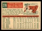 1959 Topps #276  Pete Daley  Back Thumbnail