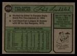 1974 Topps #369  Paul Lindblad  Back Thumbnail