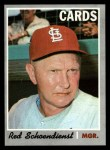 1970 Topps #346  Red Schoendienst  Front Thumbnail
