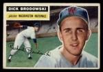 1956 Topps #157 WHT Dick Brodowski  Front Thumbnail