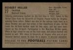 1952 Bowman Small #27  Robert Miller  Back Thumbnail