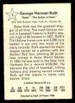 1961 Golden Press #3  Babe Ruth     Back Thumbnail