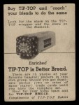 1947 Tip Top Bread  Tommy Henrich  Back Thumbnail
