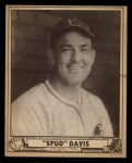 1940 Play Ball #163  Spud Davis  Front Thumbnail