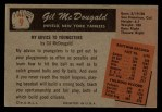 1955 Bowman #9  Gil McDougald  Back Thumbnail