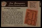 1955 Bowman #49  Jim Greengrass  Back Thumbnail