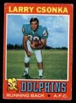 1971 Topps #45  Larry Csonka  Front Thumbnail