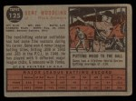 1962 Topps #125 GRN Gene Woodling  Back Thumbnail