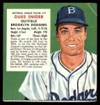 1955 Red Man #19 NL x Duke Snider  Front Thumbnail