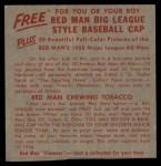 1955 Red Man #17 NL x Pee Wee Reese  Back Thumbnail