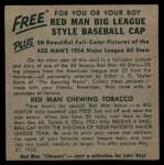 1954 Red Man #25 AL x Gil McDougald  Back Thumbnail