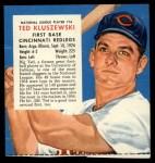 1955 Red Man #16 NL x Ted Kluszewski  Front Thumbnail