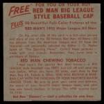 1955 Red Man #16 NL x Ted Kluszewski  Back Thumbnail