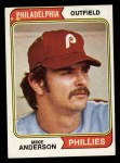 1974 Topps #619  Mike Anderson  Front Thumbnail