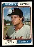 1974 Topps #573  Mike Adams  Front Thumbnail
