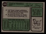 1974 Topps #589  Boots Day  Back Thumbnail
