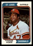 1974 Topps #630  Tommie Agee  Front Thumbnail