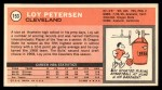 1970 Topps #153  Loy Petersen   Back Thumbnail