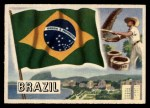 1956 Topps Flags of the World #42   Brazil Front Thumbnail