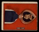 1950 Topps Freedoms War #192   Purple Heart  Front Thumbnail