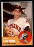 1963 Topps #426  Barry Latman  Front Thumbnail