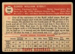 1952 Topps #161 CRM Bud Byerly  Back Thumbnail
