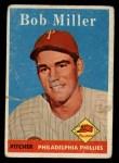 1958 Topps #326  Bob Miller  Front Thumbnail