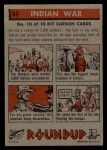 1956 Topps Round Up #80   -  Kit Carson Indian War Back Thumbnail