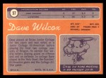 1970 Topps #57  Dave Wilcox  Back Thumbnail