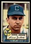 1952 Topps #169 CRM Howie Judson  Front Thumbnail