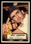 1952 Topps #83  Billy Johnson  Front Thumbnail
