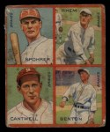 1935 Goudey 4-in-1  Al Spohrer / Flint Rhem / Ben Cantwell / Larry Benton  Front Thumbnail