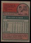 1975 Topps #235  Jack Billingham  Back Thumbnail