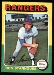 1975 Topps #493  Don Stanhouse  Front Thumbnail
