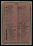 1975 Topps #646   Checklist 5 Back Thumbnail