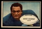 1953 Bowman #8  Sisto Averno  Front Thumbnail
