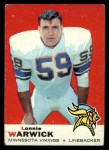 1969 Topps #57  Lonnie Warwick  Front Thumbnail