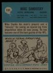 1964 Philadelphia #151  Mike Sandusky  Back Thumbnail
