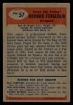 1955 Bowman #57  Howard Ferguson  Back Thumbnail