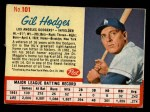 1962 Post #101  Gil Hodges   Front Thumbnail