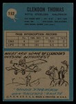 1964 Philadelphia #152  Clendon Thomas  Back Thumbnail