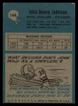 1964 Philadelphia #144  John Henry Johnson   Back Thumbnail