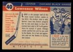 1954 Topps #40  Larry Wilson  Back Thumbnail