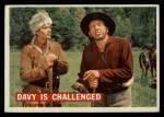 1956 Topps Davy Crockett #34   Davy Is Challenged  Front Thumbnail