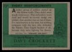 1956 Topps Davy Crockett Green Back #73   Enemy Reinforcements  Back Thumbnail