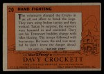 1956 Topps Davy Crockett #20   Hand Fighting  Back Thumbnail