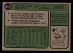 1974 Topps #345  Bill North  Back Thumbnail
